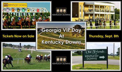 Georgia VIP Day Set for September 8 at Kentucky Downs