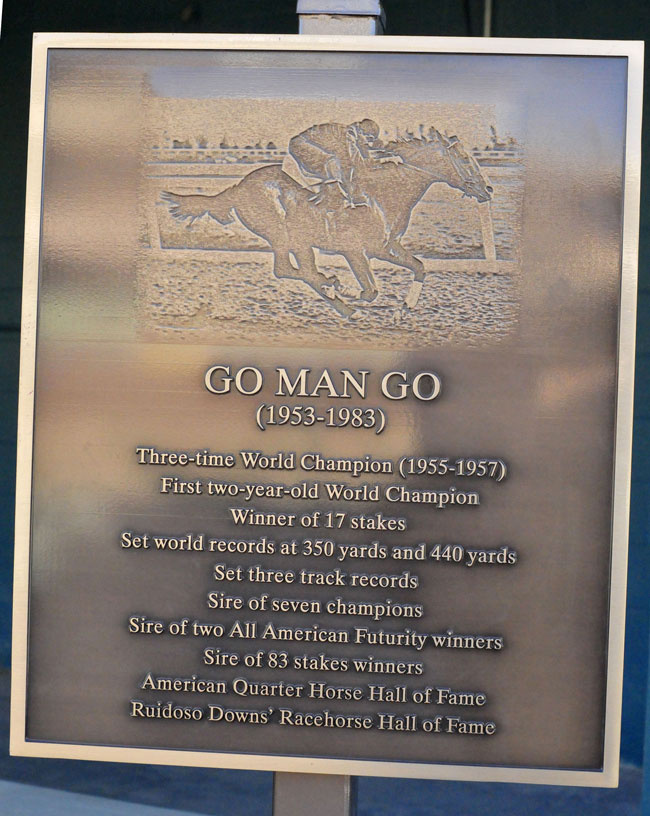 Go Man Go's plaque (Photo by Ty Wyant)