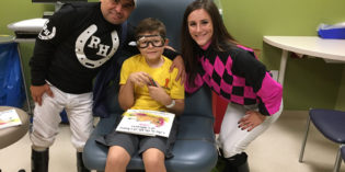 Indiana Grand Jockeys Visit Hospital in Support of Childhood Cancer Awareness Month