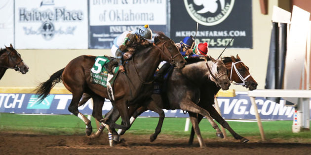 Lone Star Sailor Wins Three-Horse Photo in Closest Finish in History of Oklahoma Derby