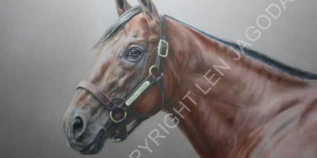 American Pharoah Portrait Unveiled To Benefit Georgia Horse Racing Coalition