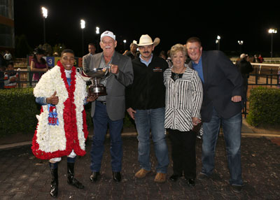 The winning connections of Texas Chrome (Photo by Dustin Orona Photography)