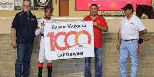 Vazquez Reaches Milestone with Five-Win Night at Remington Park