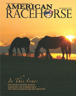 Newest Issue of American Racehorse Features Articles on King Ranch, OTTBs in Colorado and Summer Heat